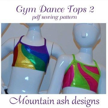 Download Gymnastics and Dance Rainbow Tops 2 in Girls Sizes 2-14 - Sewing Patterns immediately at Makerist