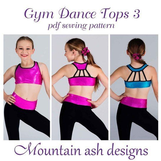 Download Gymnastics and Dance Tops 3 in Girls Sizes 2-14 - Sewing Patterns immediately at Makerist
