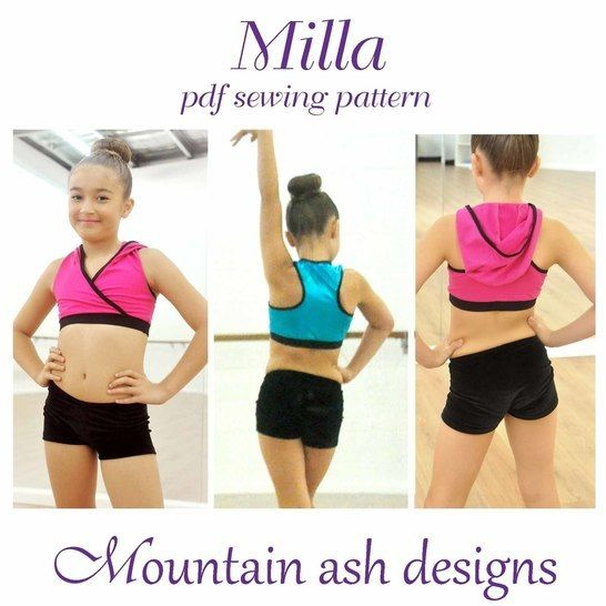 Download Milla Crossover Dance Top in Girls Sizes 2-14 - Sewing Patterns immediately at Makerist