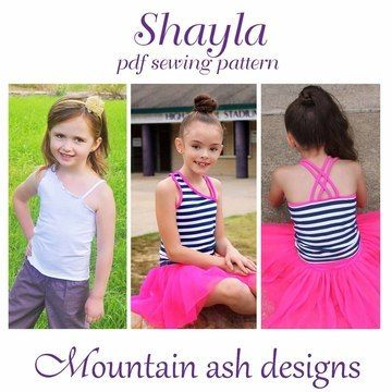 Download Shayla Singlet Top in Girls Sizes 2-14 - Sewing Patterns immediately at Makerist