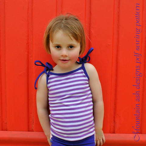 Download Singlet Tops for Summer Days in Girls Sizes 2-14 immediately at Makerist