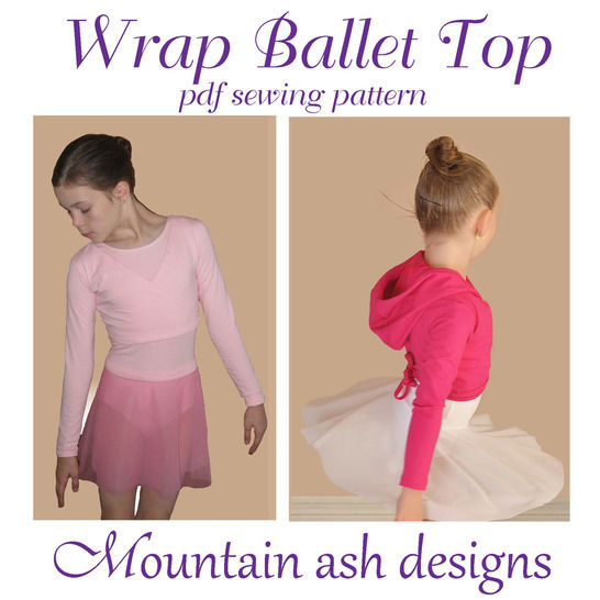 Download Wrap Ballet Tops in Girls Sizes 1-14 - Sewing Patterns immediately at Makerist