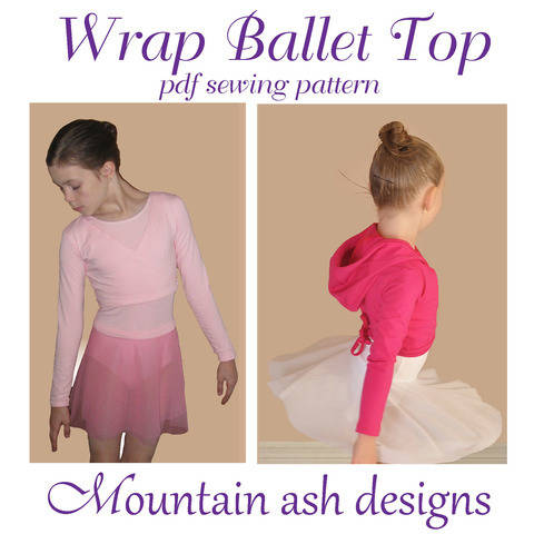 Download Wrap Ballet Tops in Girls Sizes 1-14 immediately at Makerist