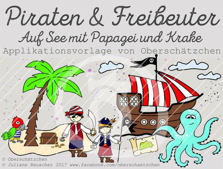 Applikationsvorlage Piraten & Freibeuter - Nähanleitungen bei Makerist sofort runterladen