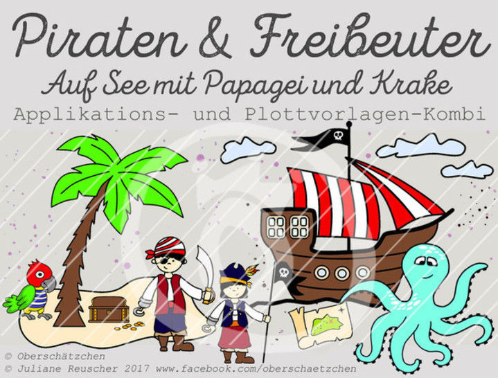 Appli- und Plott-Kombi Piraten & Freibeuter - Plotterdateien bei Makerist sofort runterladen
