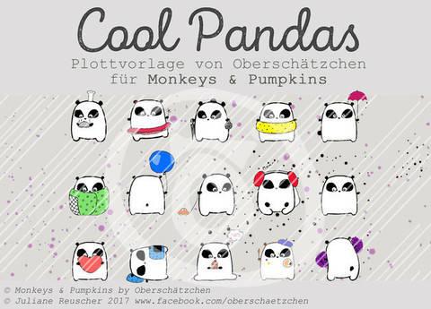 Plotterdatei Plottvorlage Cool Pandas bei Makerist sofort runterladen