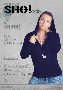 Download crisscrossSHO!odie - an easy to sew unique hoodie - Sewing Patterns immediately at Makerist