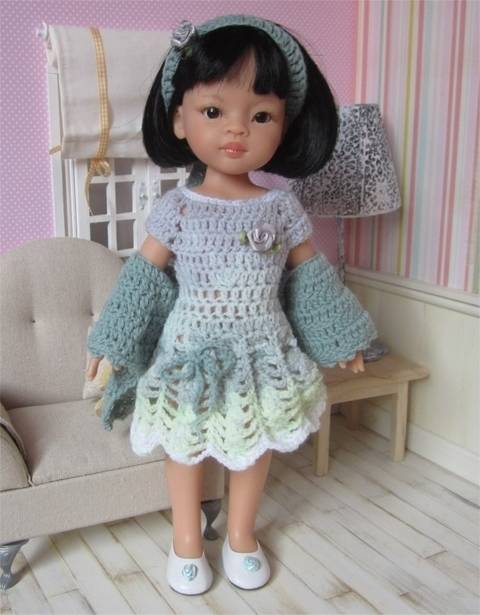 Download Perrine : crochet outfit for Paola Reina or Cherie Doll immediately at Makerist