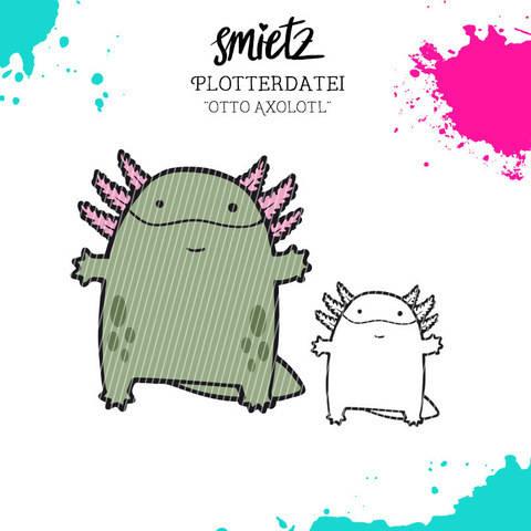 """Plotterdatei """"Otto Axolotl"""" inklusive Minilizenz bei Makerist sofort runterladen"""