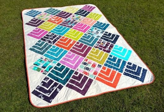 Download Jelly On Point - modern quilt pattern - quilts patchwork sewing Jelly Roll friendly - Patchwork & Quilting immediately at Makerist