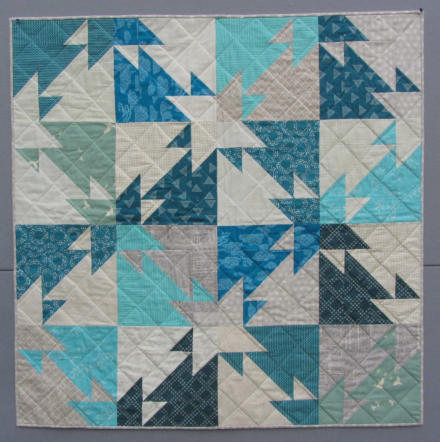 Triangle Challenge Modern Quilt Pattern Quilts