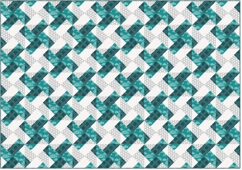 Download Whirly modern quilt pattern - quilts patchwork pillow baby quilt twin king lap size - Patchwork & Quilting immediately at Makerist