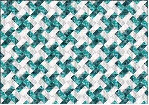 Download Whirly modern quilt pattern - quilts patchwork pillow baby quilt twin king lap size immediately at Makerist
