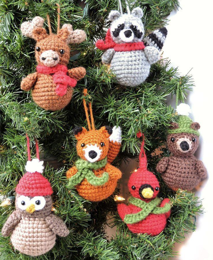 Woodland Animal Ornaments Crochet Pattern