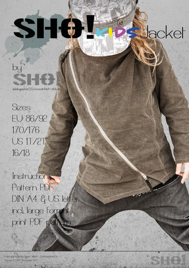 Download SHO! KIDS Jacket - a jacket for cool kids - Sewing Patterns immediately at Makerist