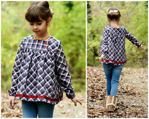 Download GIRLS DRESS, TUNIC, SEWING PATTERN, LONG SLEEVES immediately at Makerist