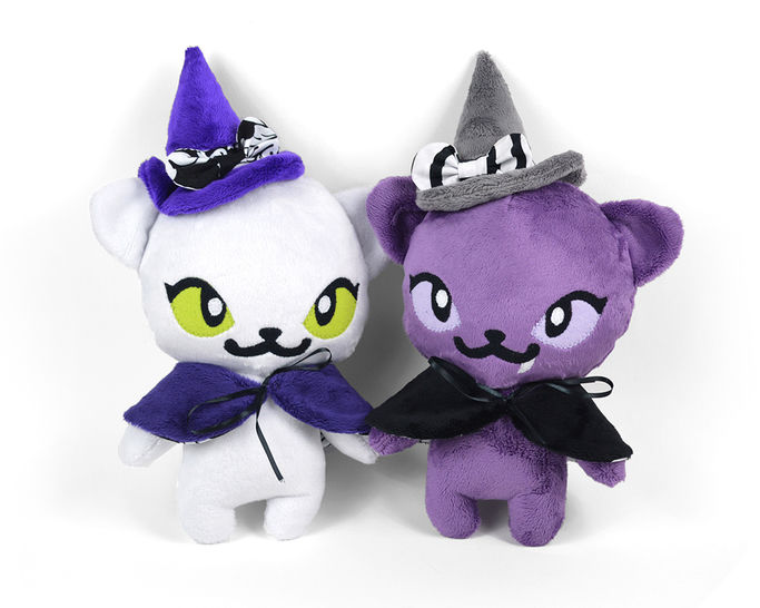Download Witch Kitty Cat Stuffed Animal Toy Sewing Pattern immediately at Makerist
