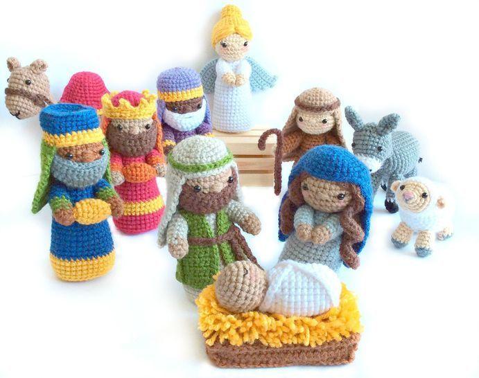 Download Amigurumi Nativity Set - Crochet Pattern immediately at Makerist