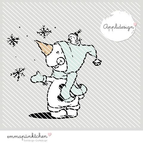 emmapünktchen ® - applikationsvorlage little snowman bei Makerist sofort runterladen