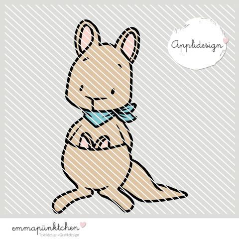 emmapünktchen ® - applikationsvorlage k. känguruh bei Makerist sofort runterladen