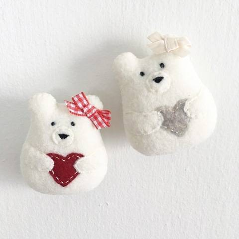 Download Sweetheart Bear Sewing Pattern - Bear Plush Toy - Christmas Ornament immediately at Makerist