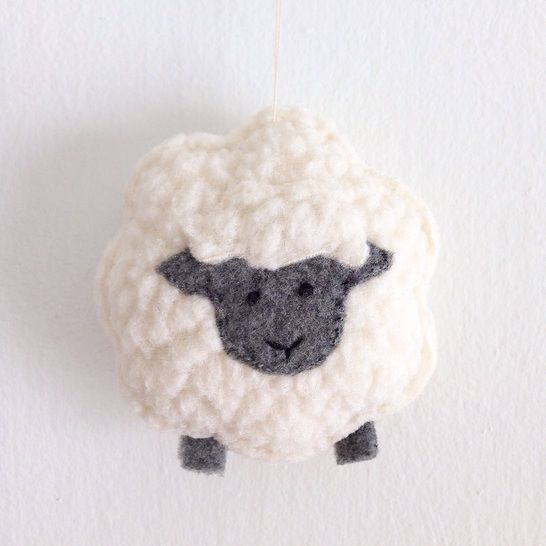 Download Little Sheep Sewing Pattern - Christmas Ornament - Plush Toy immediately at Makerist