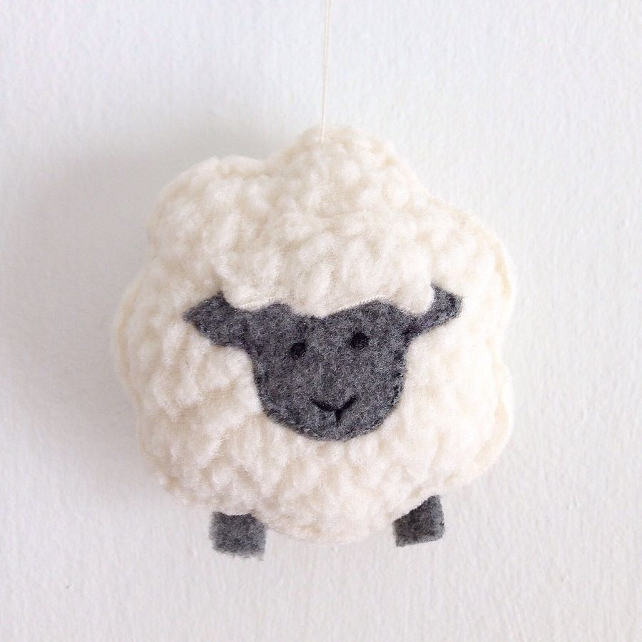 Little Sheep Sewing Pattern Christmas Ornament Plush Toy