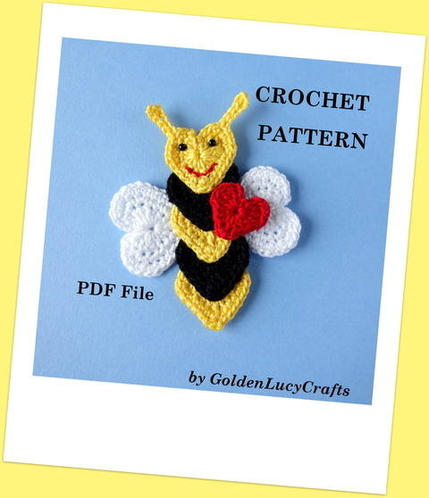 Download Bee Applique immediately at Makerist