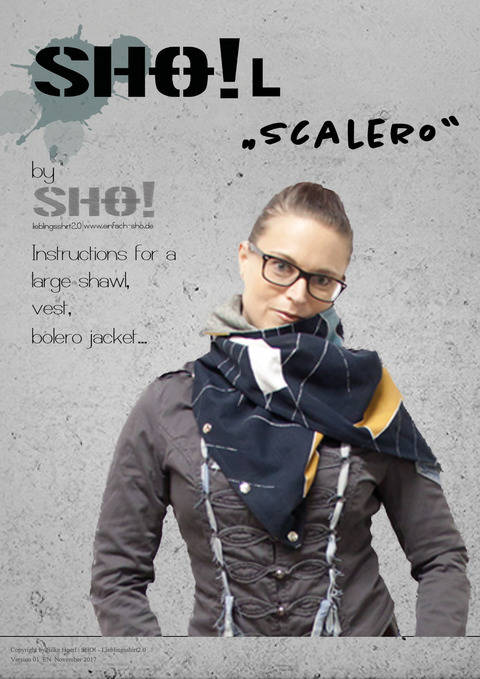 Download SHO!L - Instructions for a large shawl, vest, bolero jacket....  immediately at Makerist