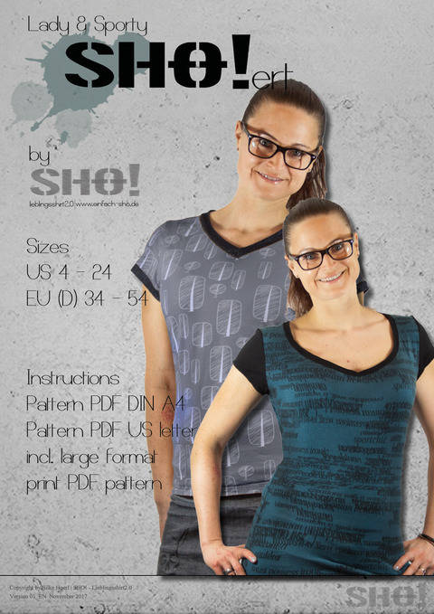 Download lady & sportySHO!ert - a basic shirt pattern immediately at Makerist