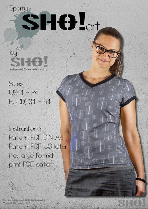 Download sportySHO!ert - a loose fit basic shirt immediately at Makerist