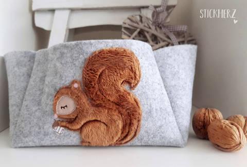 Stickdatei Eichhörnchen 13x18 Doodle 3D bei Makerist sofort runterladen