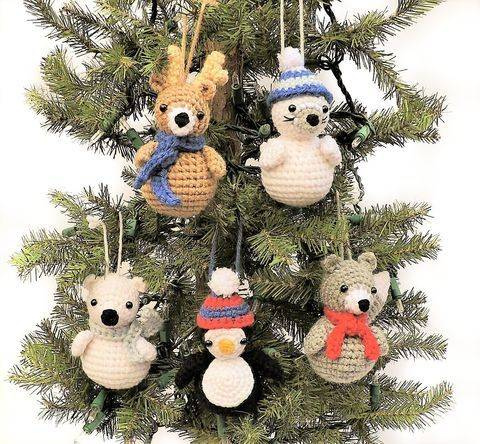 Download Polar Animal Ornaments - Crochet Pattern immediately at Makerist