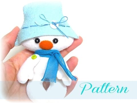 Download Snowman-Christmas ornaments patterns-Snowman Christmas PDF Ornament pattern-Snowman ornament-DIY pattern-Felt ornament pattern immediately at Makerist