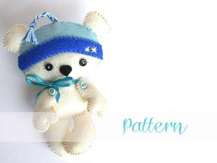 Polar Bear Christmas Ornament Pdf Sewing Pattern Ornament Pattern