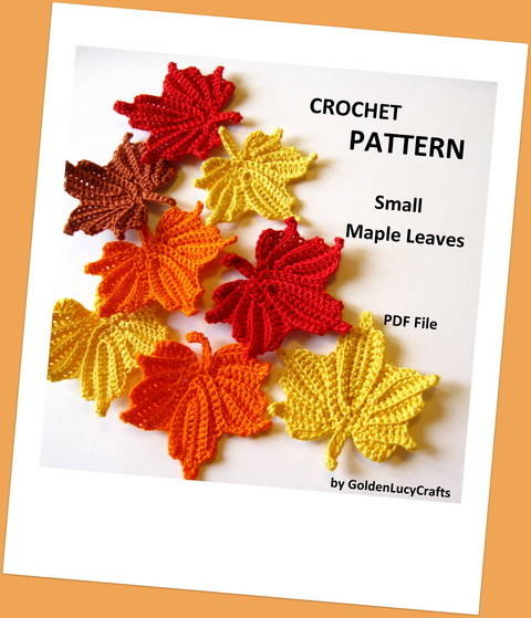 Small Maple Leaves Crochet Pattern at Makerist