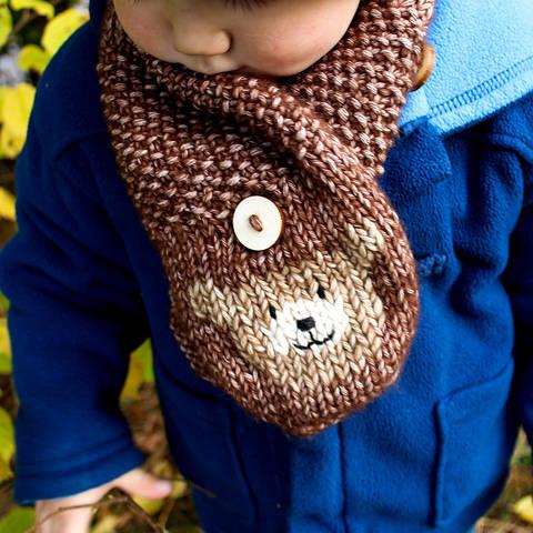 Schal Bär für Kinder (größenverstellbar) - Strickanleitung für Anfänger bei Makerist sofort runterladen