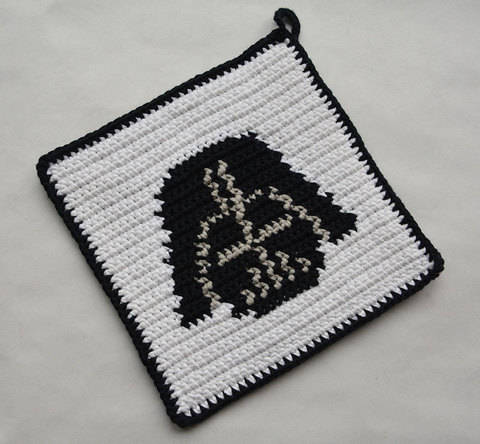 Download Darth Vader Potholder Pattern (with Crochet Basics) immediately at Makerist