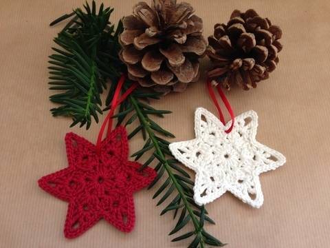 PDF Crochetpattern Christmasornament Star bei Makerist sofort runterladen