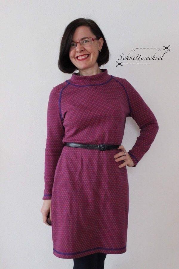 Kleid Petite-Susi Gr. 42-46, PDF-Schnittmuster A4,A0 und Nähanleitung