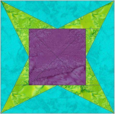 Download Y Star 10 Inch Paper Piecing Foundation Quilting Block Pattern immediately at Makerist