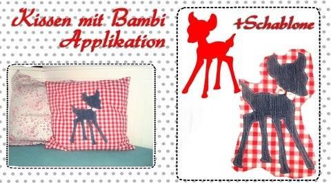 "Nähanleitung +Schnitt Ebook Kinderkissen ""Bambi"" bei Makerist sofort runterladen"