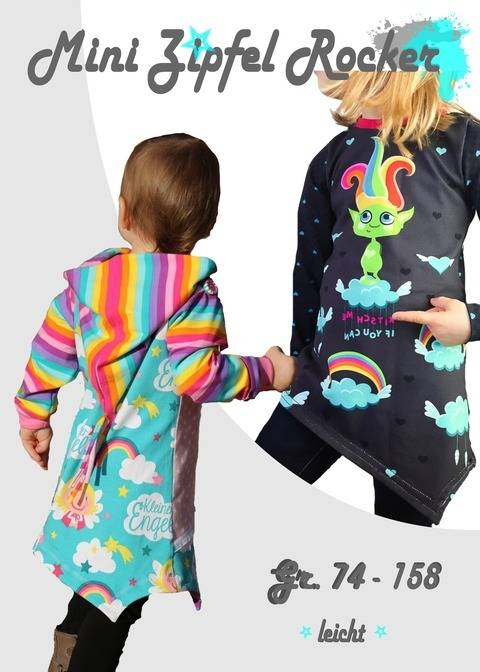 Mini zipfel Rocker * asymmetrisches Shirt im Zipfellook * Gr. 74 - 158 bei Makerist sofort runterladen