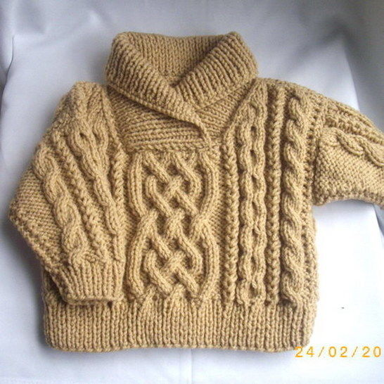 edc4a463b Download Liam child s aran sweater - knitting pattern immediately at  Makerist