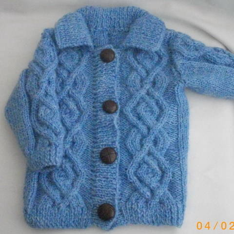 Download Baby or toddler coat jacket - knitting pattern immediately at Makerist