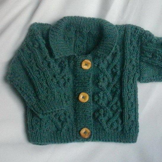 Rowan Toddler Aran Cardigan Jacket Knitting Pattern