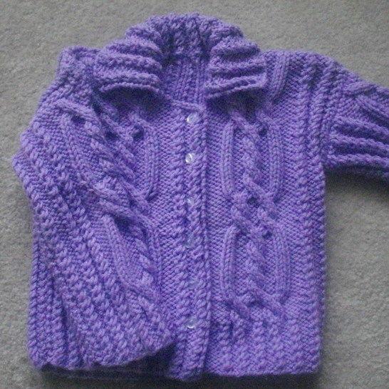 Maeve Girls Cable Cardigan Knitting Pattern