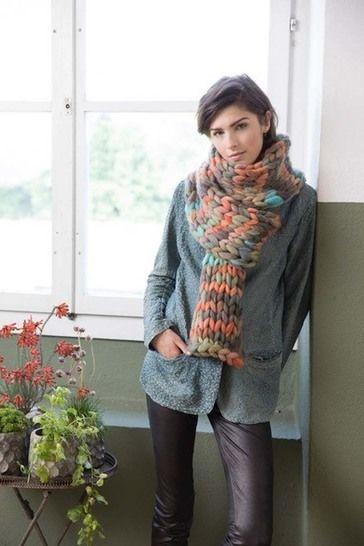 Télécharger Écharpe à tricoter tout de suite sur Makerist