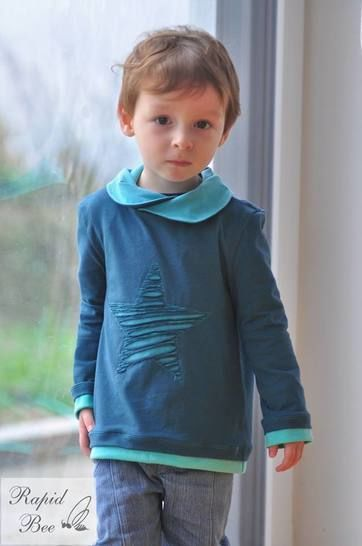 "eBook Shirt ""Mini Mister Hem"" von Lennähna Größen 86 - 170 bei Makerist sofort runterladen"
