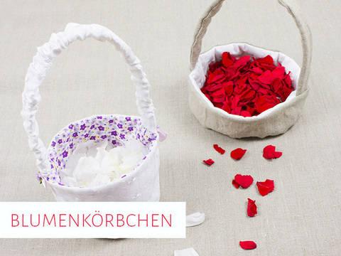 Blumenkörbchen für die Hochzeit in 2 Varianten bei Makerist sofort runterladen